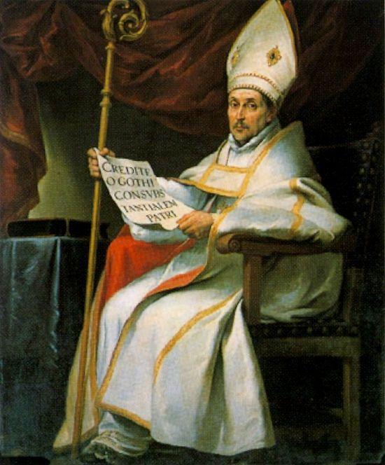 Леандр, епископ Севильский. Картина Бартоломе Эстебана Мурильо. (1655 год).