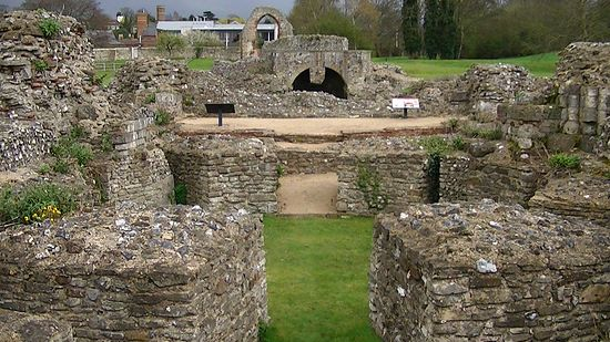 Ruins of St. Augustine's Monastery in Canterbury
