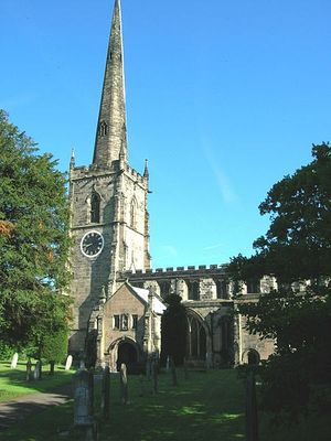 St. Wistan's Church in Repton, Derbyshire (photo by JThomas)