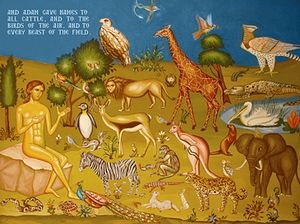 Adam named the animals, having dominion over them