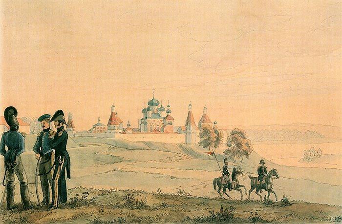 Французская армия у стен Симонова монастыря