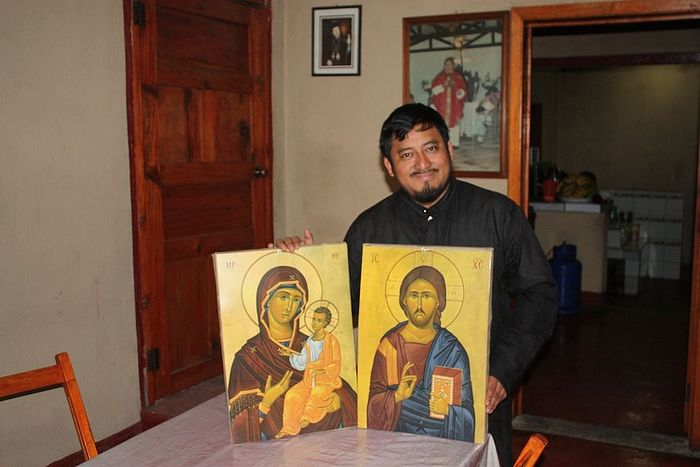 Fr. Evangelos will deliver these icons to one of his 72 communities.