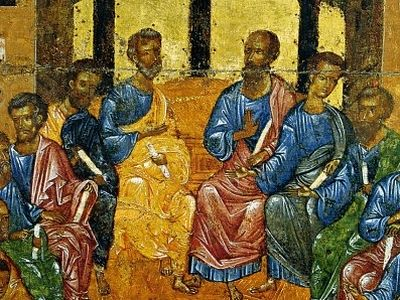 Two words on Pentecost with pastors of St. Tikhon's