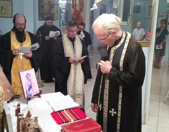 Fr. John Hamatie leads prayers at Orlando's St. George Antiochian Orthodox Church.