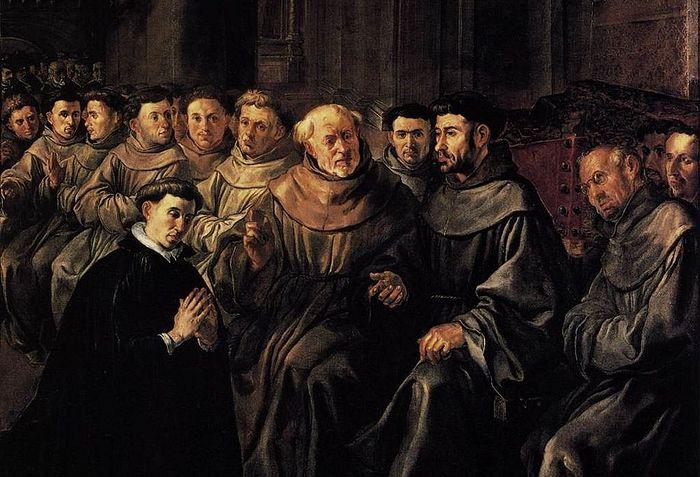 Бонавентура поступает во францисканский орден