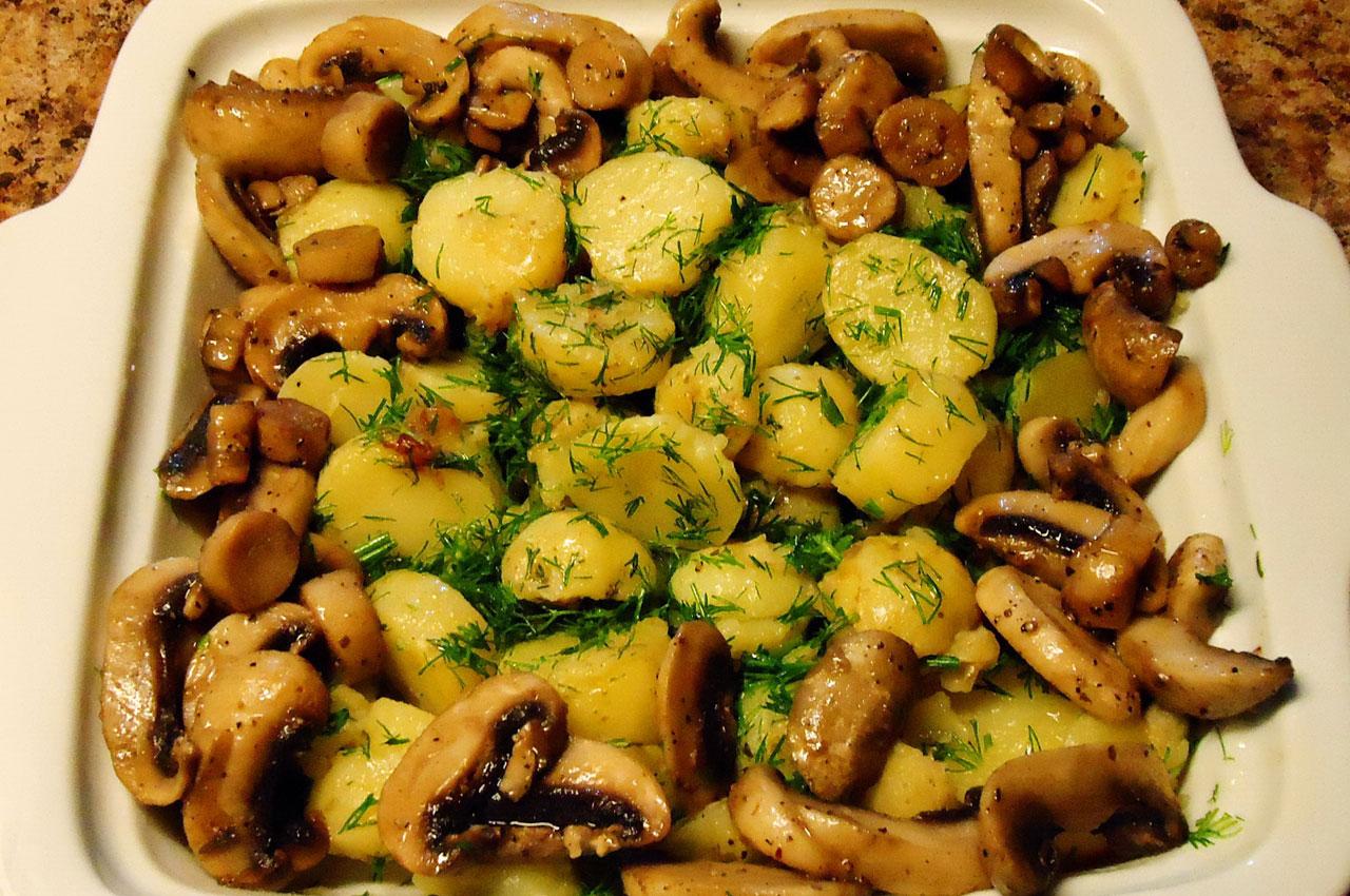 Грибы картофель мясо рецепт
