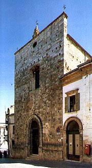 Фасад Евхаристического собора в Ланчано
