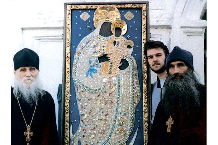 Старец Николай с отцом Олегом Тэором