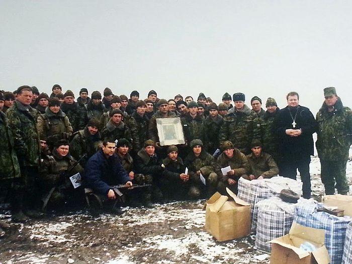 Ову икону војници су спасили у борби из Грозног у пламену. Предали су је о.Науму у Тројице-Сергијевој Лаври