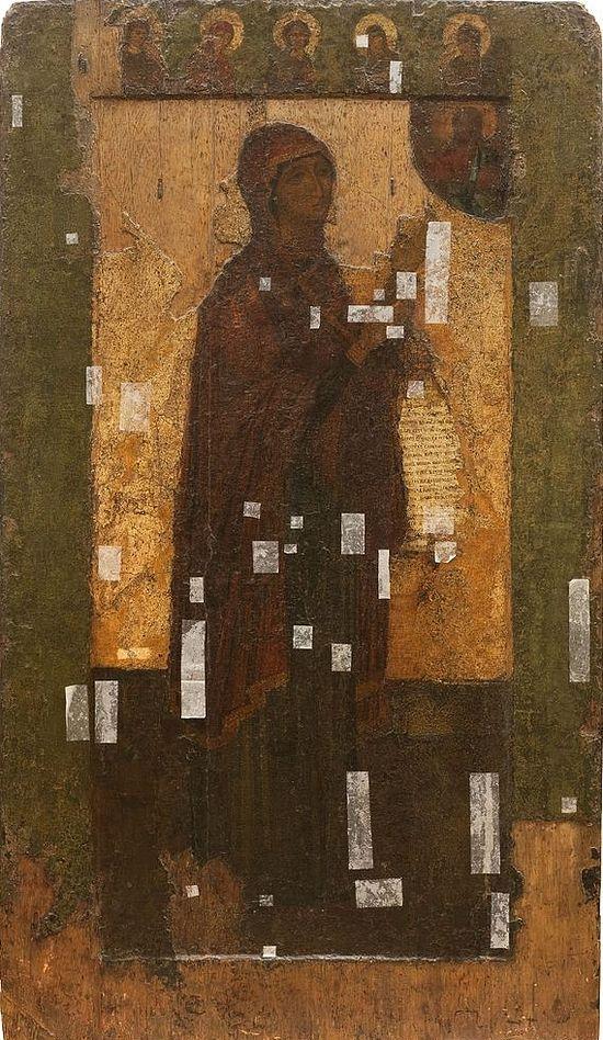 Боголюбская икона до реставрации. 2009 г.