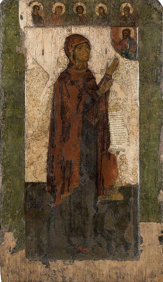 Боголюбская икона после реставрации. 2016 г.
