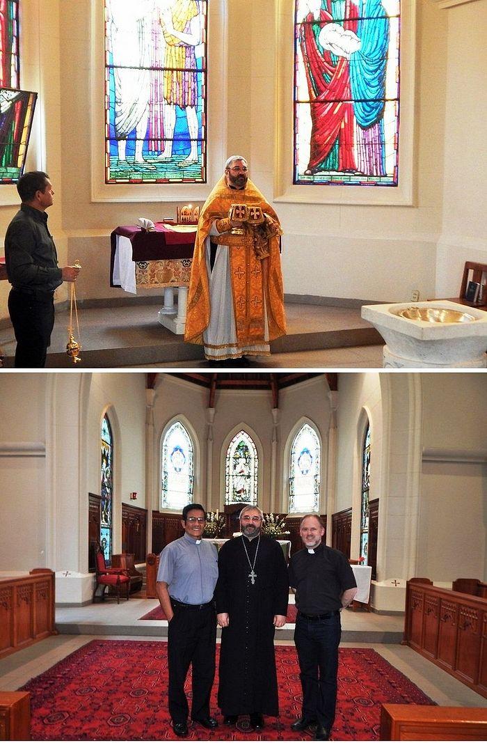 Литургия в англиканском соборе – месте служб православной общины в 2015 г.