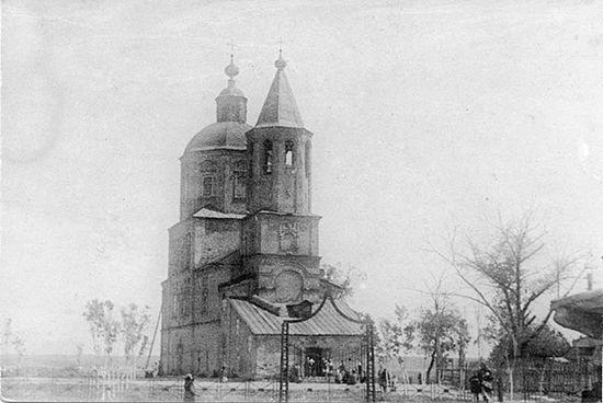 Покровский храм в 1940-е годы. Фото из архива Тамбовской Епархии