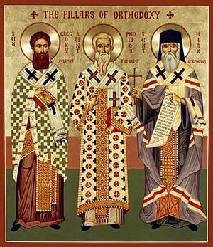 Sts. Gregory Palamas, Photios the Great, and Mark of Ephesus—the Pillars of Orthodoxy