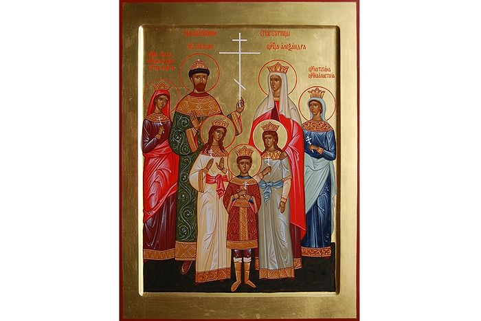 Царственные страстотерпцы Икона в Елоховском соборе