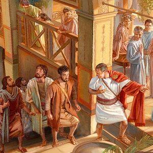 Апостол Петр входит в дом Корнилия