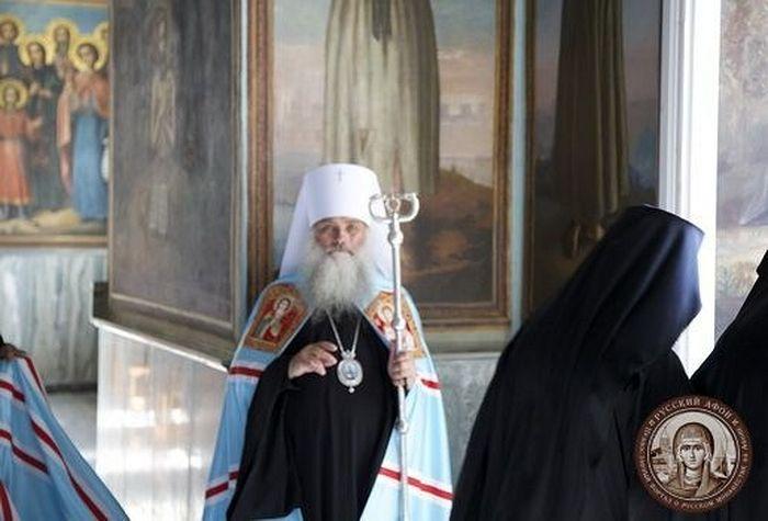 Metropolitan Sergy (Ivannikov) of Barnaul and Altai at the Russian St. Panteleimon's Monastery, Mt. Athos
