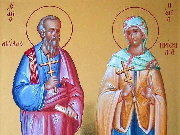 Апостол Акила и его жена Прискилла