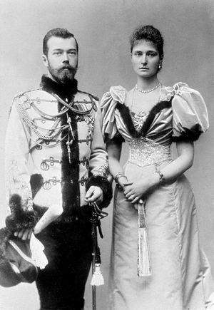 Царь Николай и царица Александра