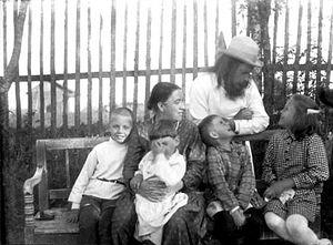 Праведный отец Алексий Мечев с семьей