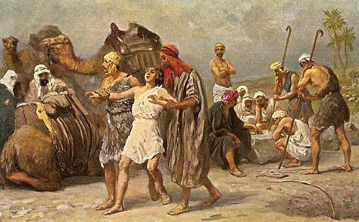 Р. Ляйнвебер. Продажа Иосифа в рабство.