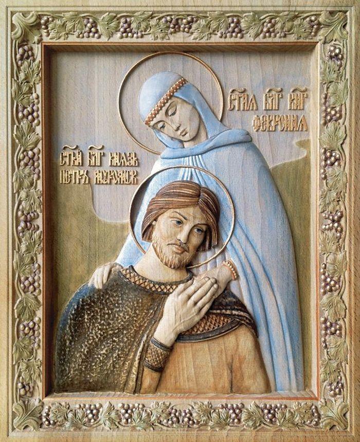 Икона святых благоверных князя Петра и княгини Февронии, Муромских чудотворцев