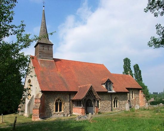St. Etheldreda's Church in White Notley, Essex (photo from Mapio.net)