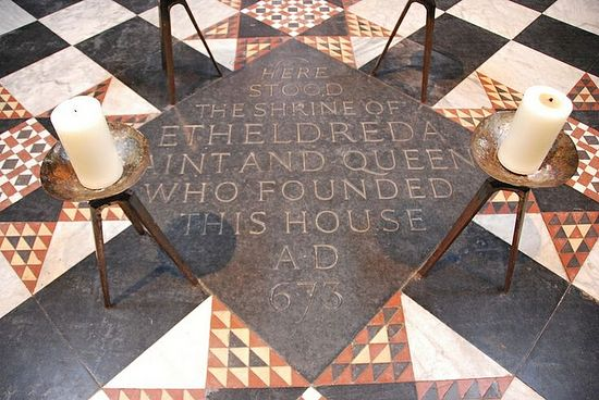 The site of the shrine of St. Etheldreda inside Ely Cathedral