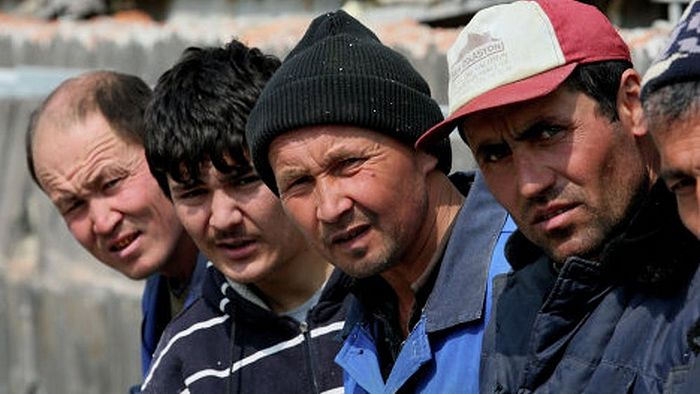 Migrant workers in Russia from Central Asia.