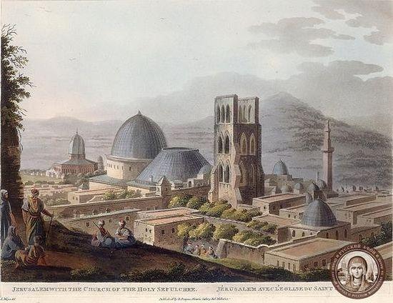 Храм Гроба Господня в 1780-х гг.