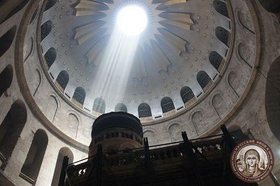 Храм Гроба Господня. Внутренний вид купола