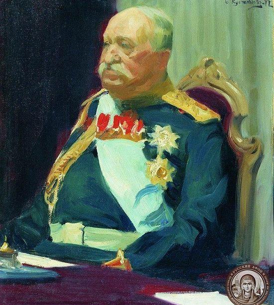 Граф Игнатьев. Портрет работы Б. Кустодиева (1902)