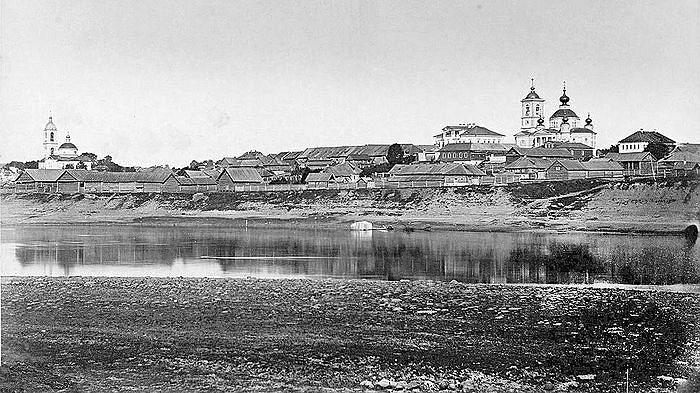 Молога. Вид на Афанасиевский монастырь. Начало 1900-х.