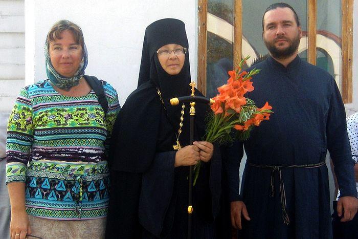 2010 — С сыном протодиаконом Павлом и дочерью Мариной