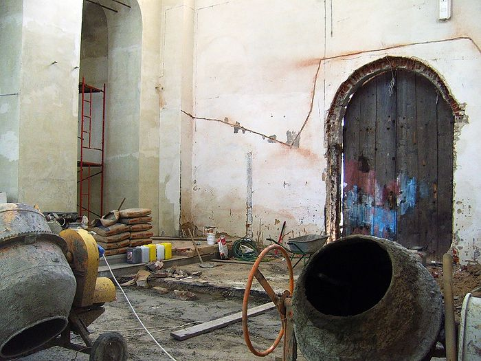 Работы в главном приделе храма
