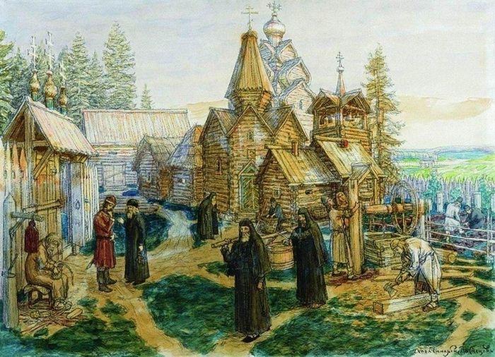 А.М.Васнецов. Троице-Сергиева лавра