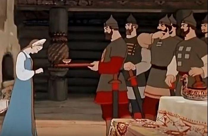 «Сказка о мертвой царевне и о семи богатырях». Кадр из мультфильма