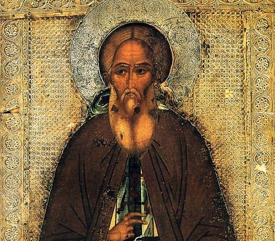 Преподобни Сергије Радоњешки. Икона, средина XVI века. Ризница Тројице-Сергијеве Лавре