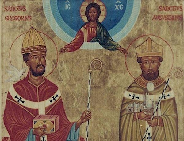 Свт. Григорий Двоеслов и свт. Августин Кентерберийский