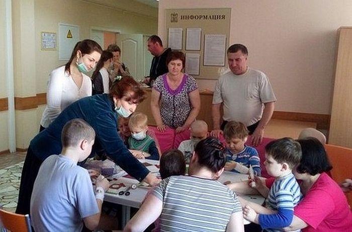 Волонтеры в детском отделении гематологии