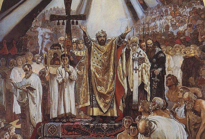 В. М. Васнецов. Крещение Руси. 1890. Третьяковская галерея, Москва