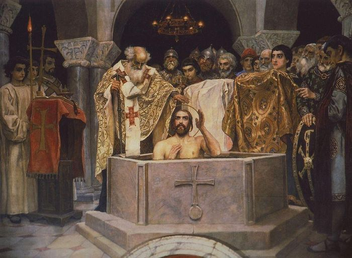 В. М. Васнецов. Крещение святого князя Владимира. Фрагмент фрески