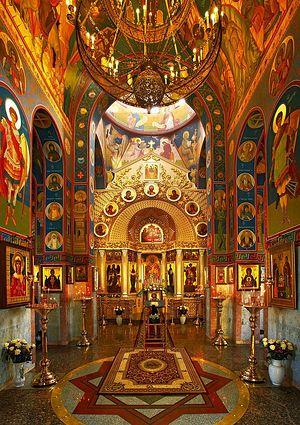 Интерьер Георгиевского храма