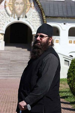 Отец Силуан (Браун) во время посещения России