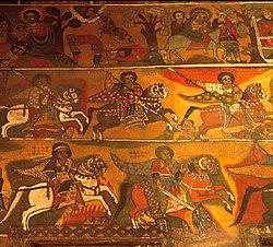 Фреска с изображением крестовых походов