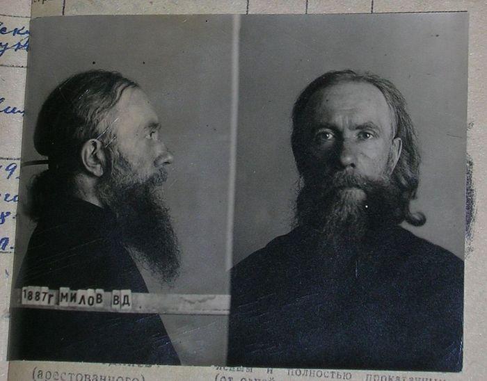 Архимандрит Вениамин (Милов). Фото из следственного дела. 1949 г.