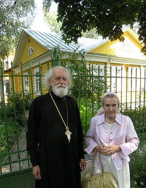 Протоиерей Николай Кречетов и его супруга Екатерина Тихоновна. 2008 год