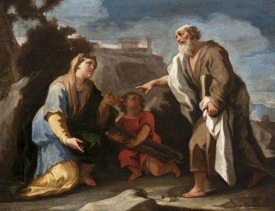 Prophet Elias and the Widow of Sarephta.