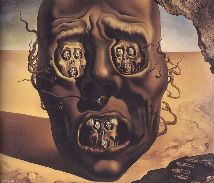 The Face of War by Salvador Dali.