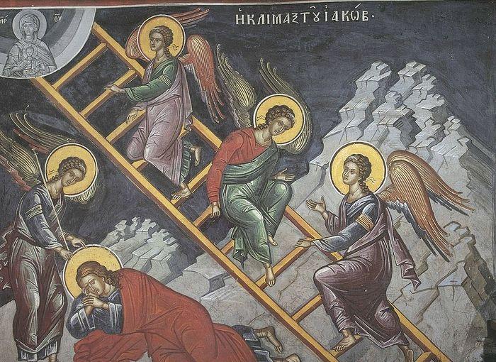 Лестница Иакова. Фреска. Греция.; XVI в.